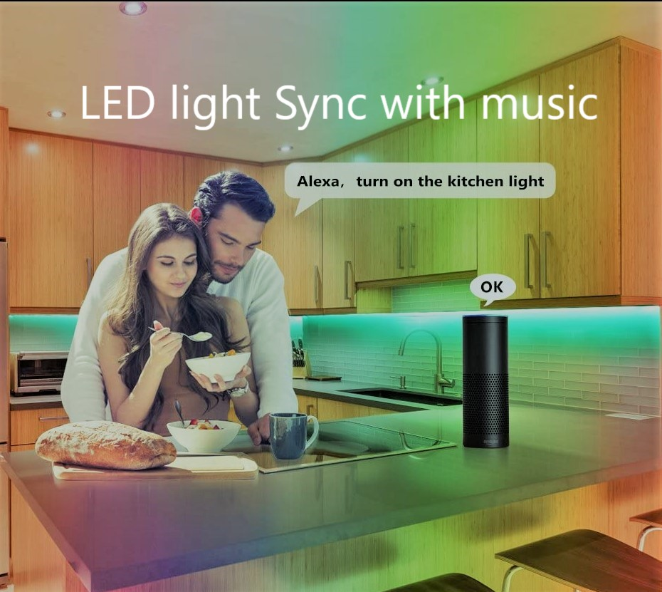 led strip lights sync with music.