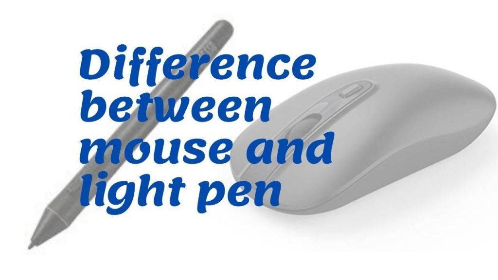 What is light pen in computer