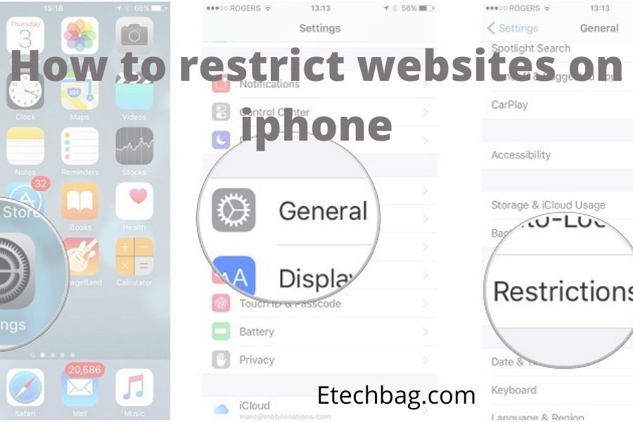 how to restrict websites on iphone